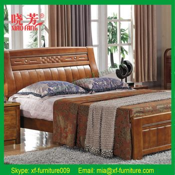 Newest Hot Selling Teak Wood Double Bed Designs Xfw 618 Wood