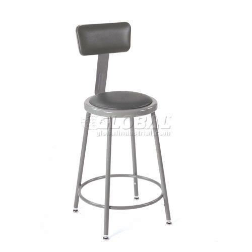 Outstanding Shop Stool With Backrest And Padded Seat Adjustable Height Frankydiablos Diy Chair Ideas Frankydiabloscom