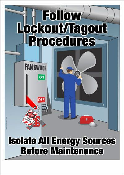 follow lockout tagout procedures