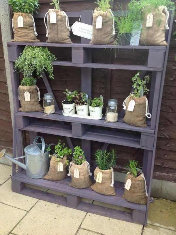 Pallet Rack With Herb
