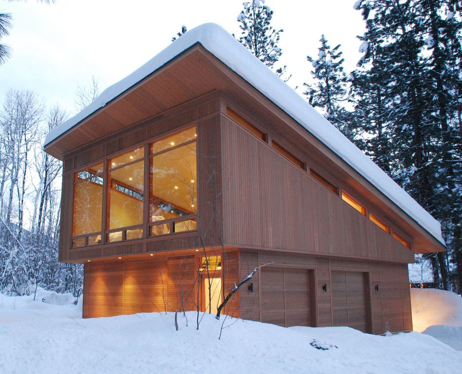 Let it snow! The only thing more beautiful than this modern home ...