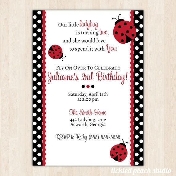 Ladybug Birthday Invitation DIY