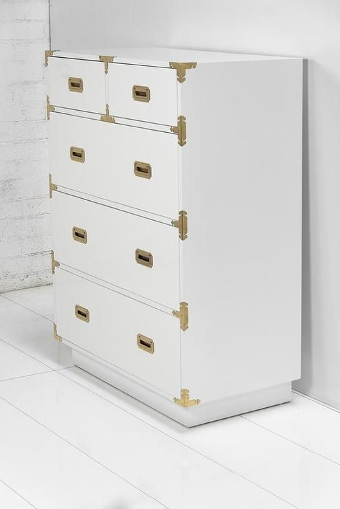 Storage Furniture Jet Setter Dresser I Roomservicestore White Campaign Style Dresser White Dresser With Brass Har Dresser Modern Dresser Storage Furniture