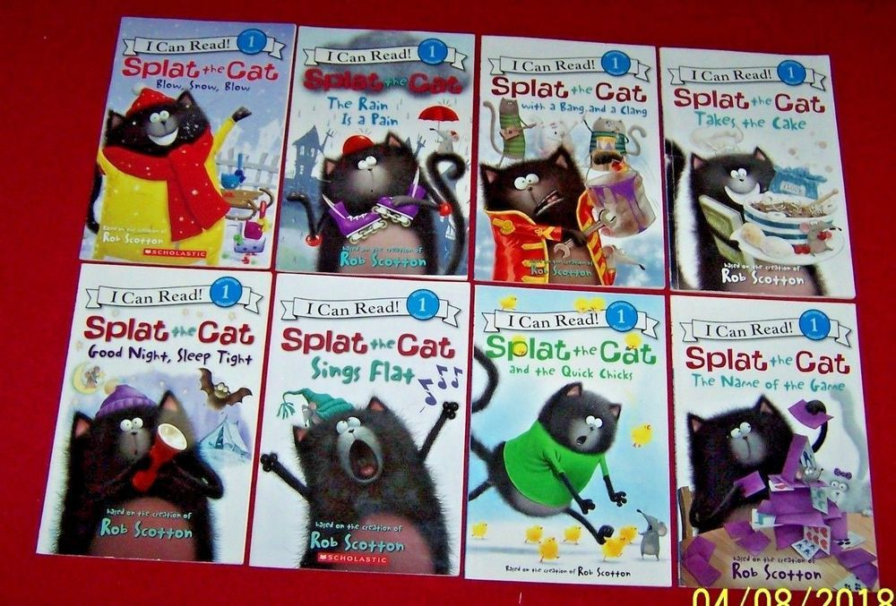 I can read splat the cat lot of 8 rob scotton books