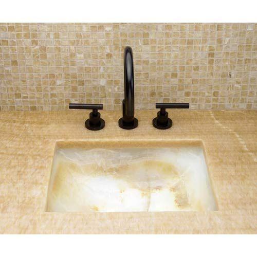 Cantera White Onyx Undercounter Bathroom Sink bathroom sink