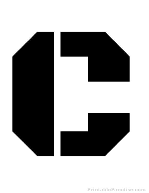 Printable Letter C Stencil Letter Stencils Stencils Letter