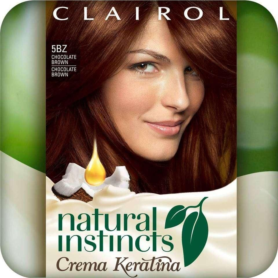 Amazon.com : Clairol Natural Instincts Crema Keratina Hair Color Kit, Chocolate Brown 5BZ