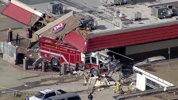Collin County Truck Crash Report Fire Truck Slams Into Dairy