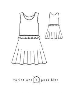 Robe ou jupe enfant fille Petite Lune patron de couture pochette avec vidéo gratuite