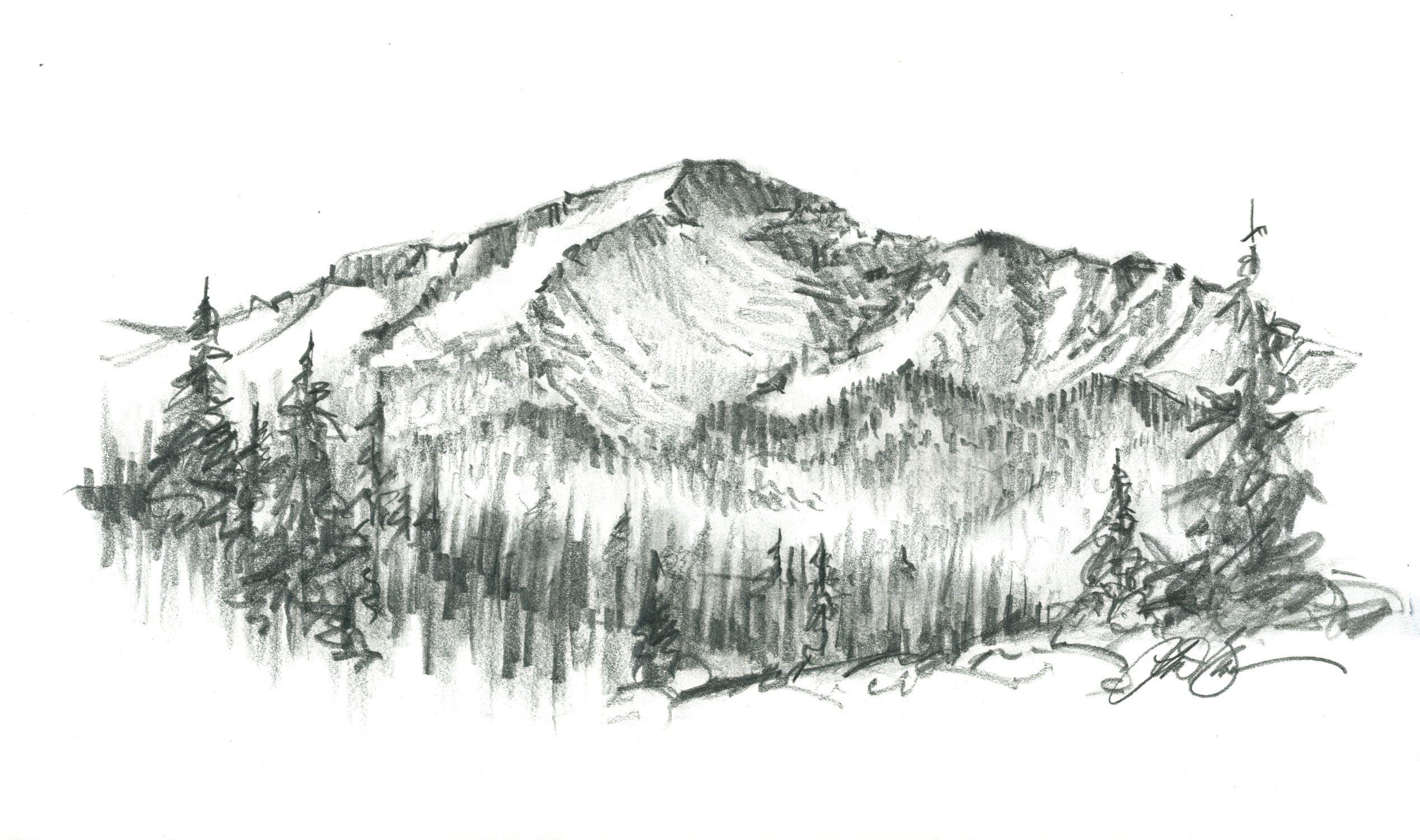 Эскизы картинок природы