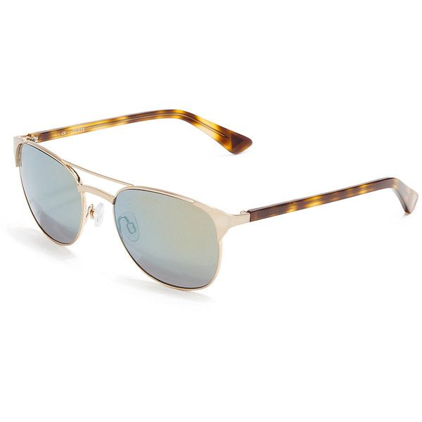GUESS Jaclyn Round Sunglasses ($90) ❤ liked on Polyvore featuring accessories, eyewear, sunglasses, gold, scratch resistant sunglasses, guess glasses, guess sunglasses, vintage eyewear and round frame glasses