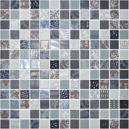 Glass Onix Cosmic Arezzo 1x1 Glass Mosaic Blend Mosaic Glass Mosaic Tile Sheets Tiles