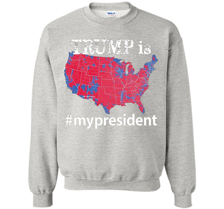 TRUMP Is My President Hashtag USA Election  Map T Shirt - Tee shirt us map dumbfuckistan