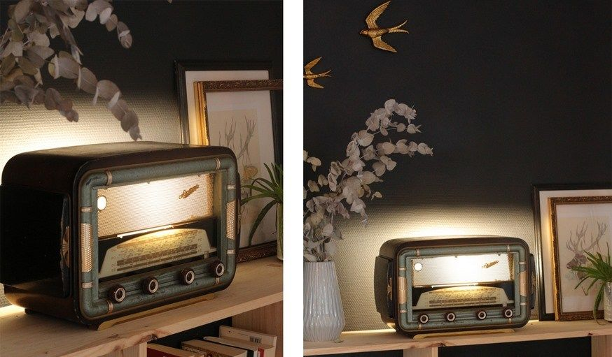 DiyTransformez D'ambianceDécoration Lampe En Radio Vintage Une zqMSpGUV