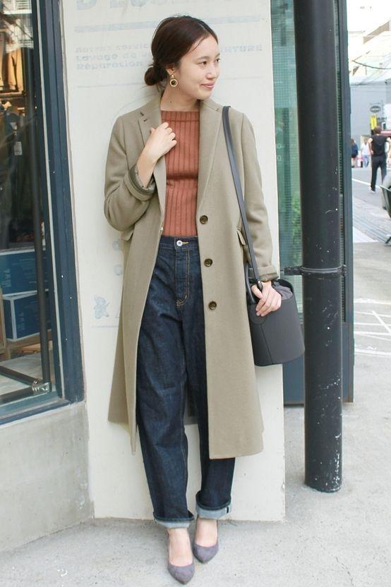 ビーバーロングチェスターコート  ハンサムなロング丈のチェスターコート。 ワイドパンツともバランス良く合わせていただけます。
