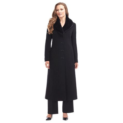 Buy Precis Petite Long Wool Coat, Black Online at johnlewis.com