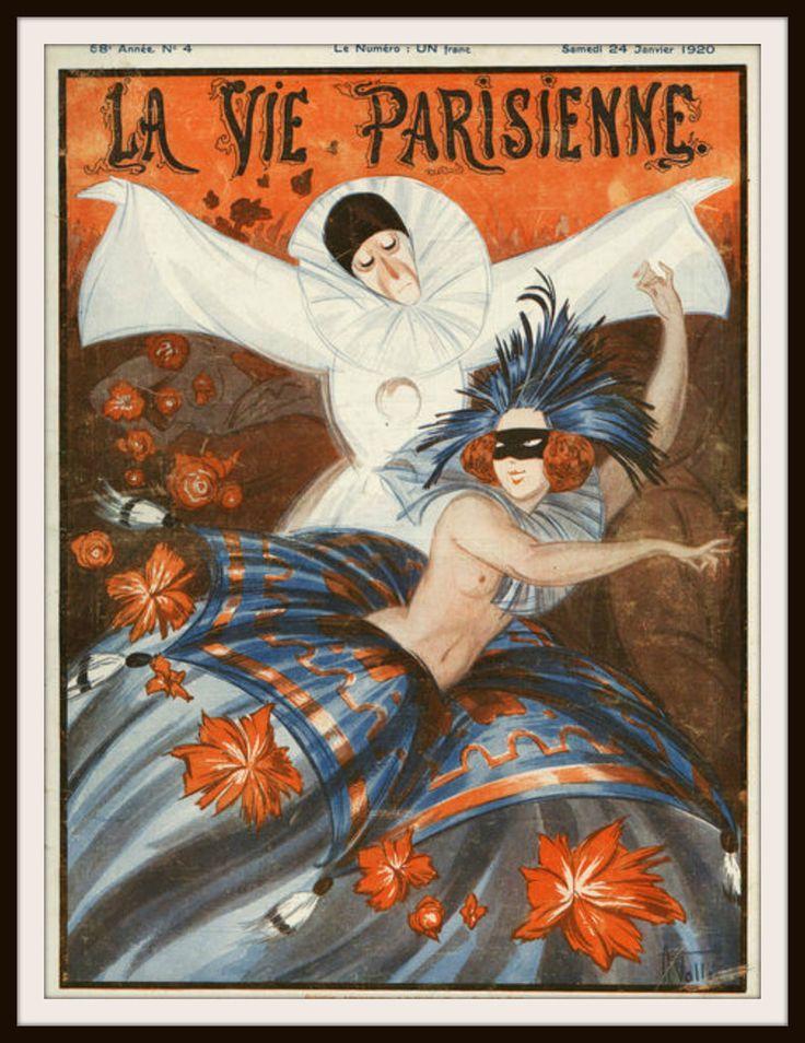 """French Magazine Paris """"La Vie Parisienne"""" Vintage Reproduction"""