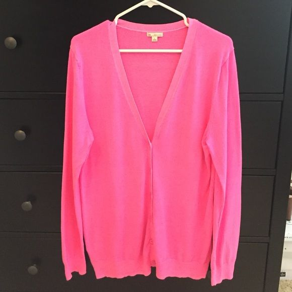 GAP Hot Pink Boyfriend Cardigan Sweater | Boyfriend cardigan, Hot ...