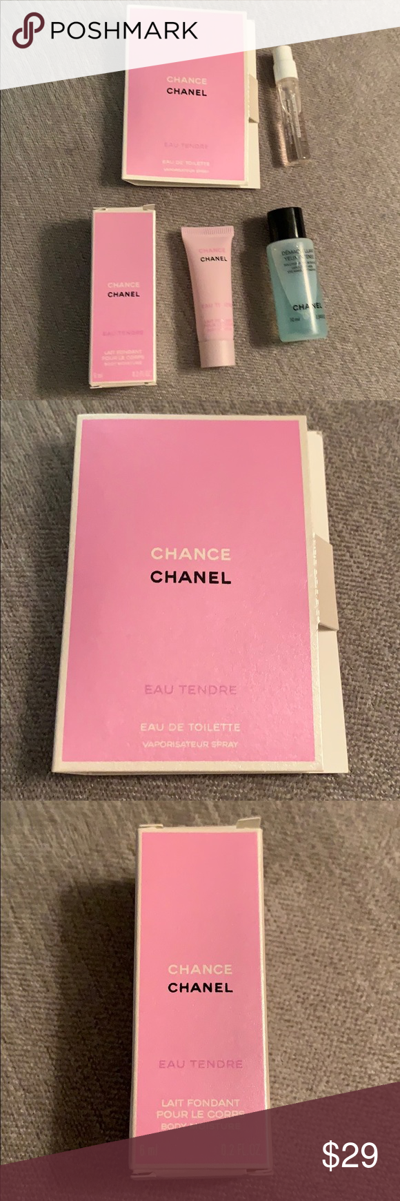 CHANEL FRAGRANCE, BODY LOTION, EYE MAKEUP REMOVER