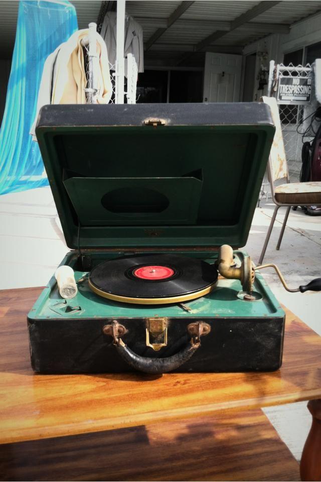 Antique Victrola Record Player Hidden Treasures