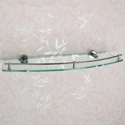Ceeley Collection Tempered Glass Shelf Chrome By