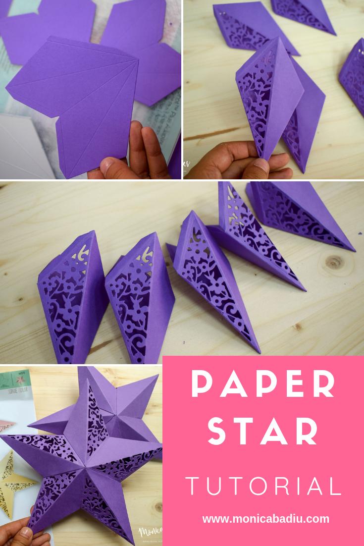Pretty 3D Paper Star Tutorial Paper stars, 3d paper star