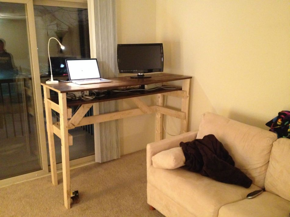 standing desk diy wood - Google Search