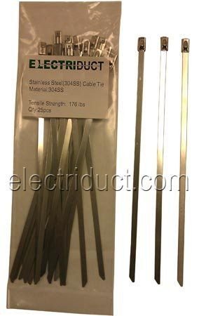 Stainless Steel Cable Ties 8 Inch 100 Pieces By Electriduct Inc 32 49 The Stainless Steel Cable Ties Are Gre Stainless Steel Cable Cable Ties Stainless