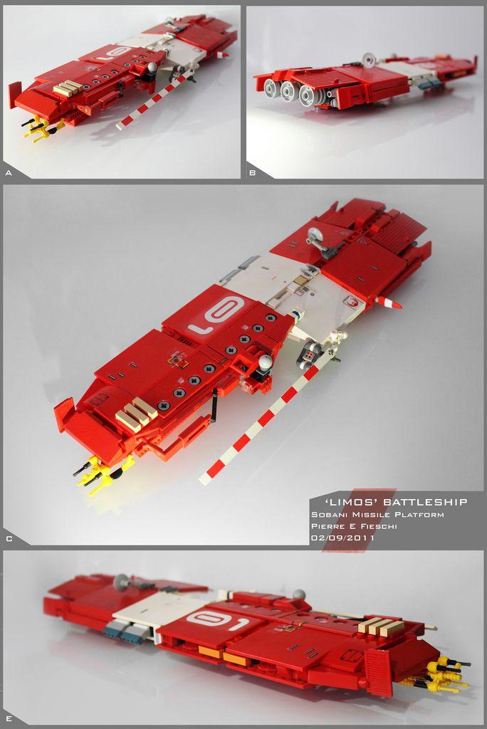 Limos Battleship in Lego by Pierre E Fieschi