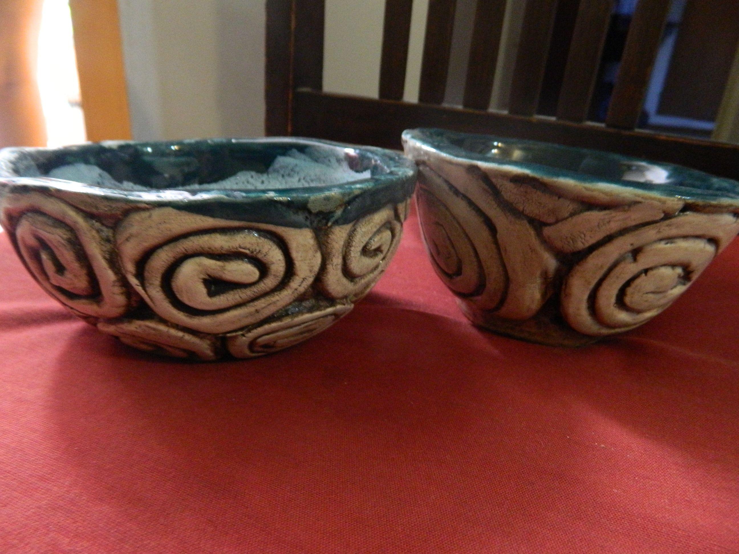 bowls utilitarios mediados... ideal para ensaladas individuales apto para poner en horno
