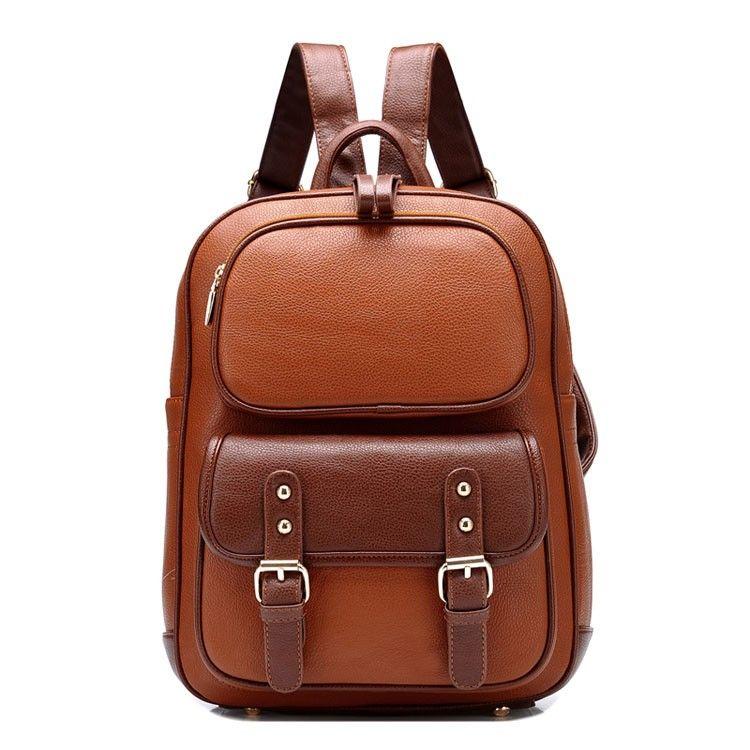 British Style Vintage Backpack School Bag | Mochila menina