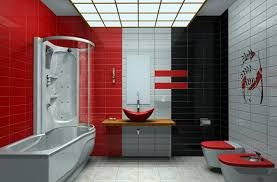 Image result for colorful bathroom