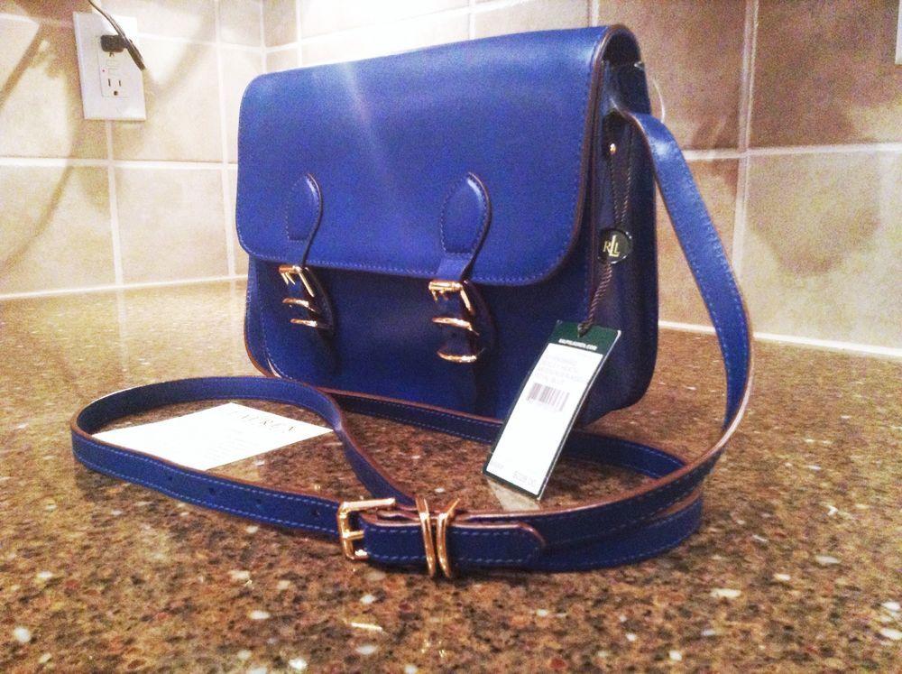 b12ba49ccd NWT Ralph Lauren Royal Blue Bexley Heath Medium Crossbody Messenger  228   RalphLauren  Messenger  CrossBody