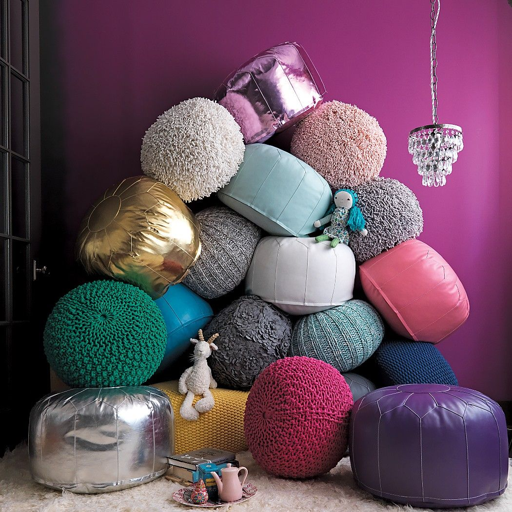 Shop Shaggy Pouf Grey Originally We Were Going To Give This