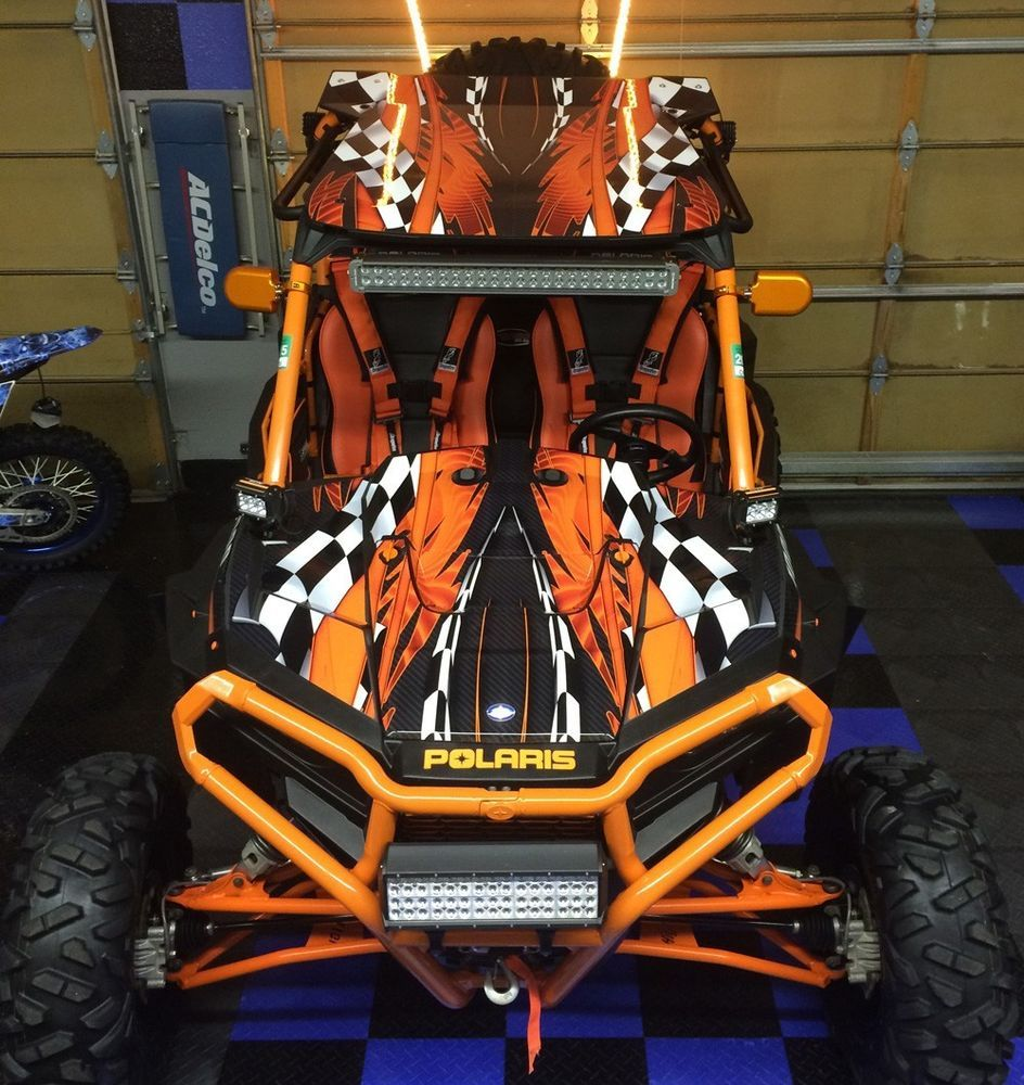 Polaris RZR 1000 graphics with OEM Inserts and Roof Wrap #3500