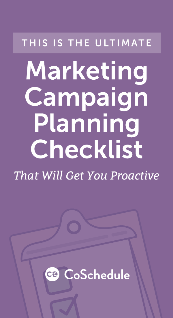 digital marketing campaign planning template - the marketing campaign planning checklist that will get