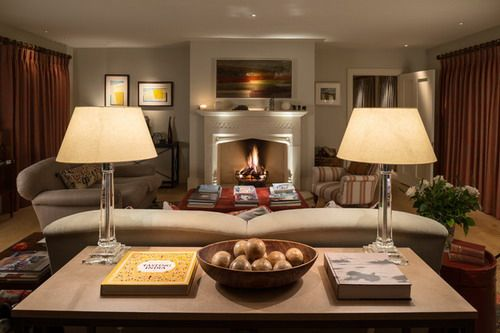 Newbuild Georgian Style House Wiltshire Country Living Room Interior Decoration Ideas