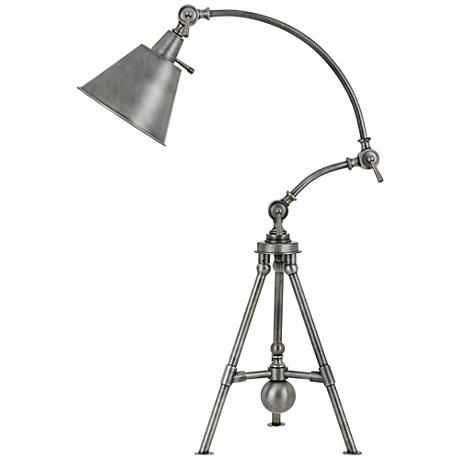 Merton Antique Pewter Adjustable Tripod Desk Lamp 10v23 Lamps Plus Desk Lamp Lamp Cal Lighting