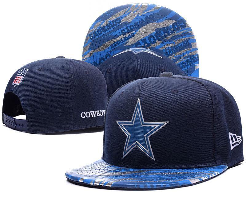 2d592c1b7 Men s Dallas Cowboys New Era Navy Color Liquid Chrome Logo Rush On-Field  Original Fit 9FIFTY Snapback Hat