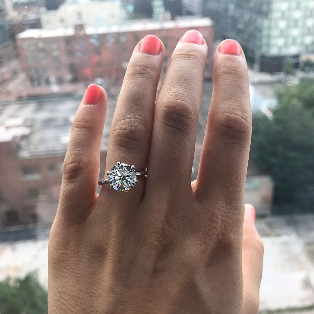 2 5 Ct 8 5 Mm Round Solitaire Moissanite Engagement Ring 6 Six