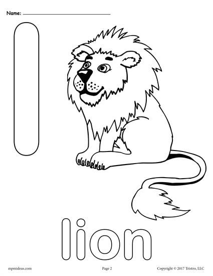 Letter L Alphabet Coloring Pages - 3 FREE Printable Versions ...