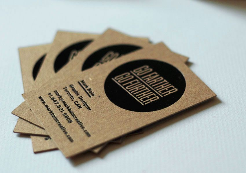 Personal business cards mark bain creative visual communication personal business cards mark bain creative reheart Images
