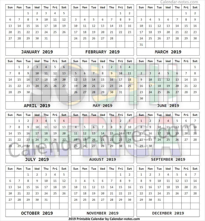 2019 Year Calendar South Africa South Africa Calendar 2019