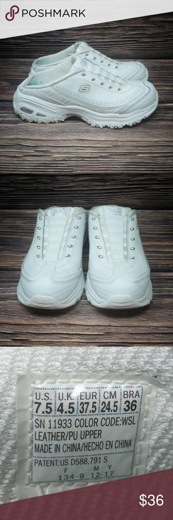 Skechers D'Lites Resilient Slip on Clogs Mules 7.5 Skechers