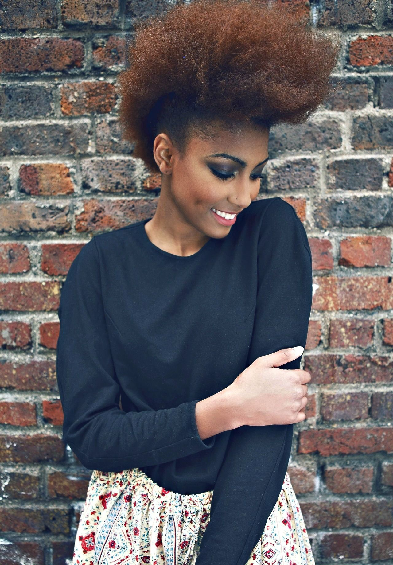 Pin by najah on hairspiration pinterest faux hawk natural and