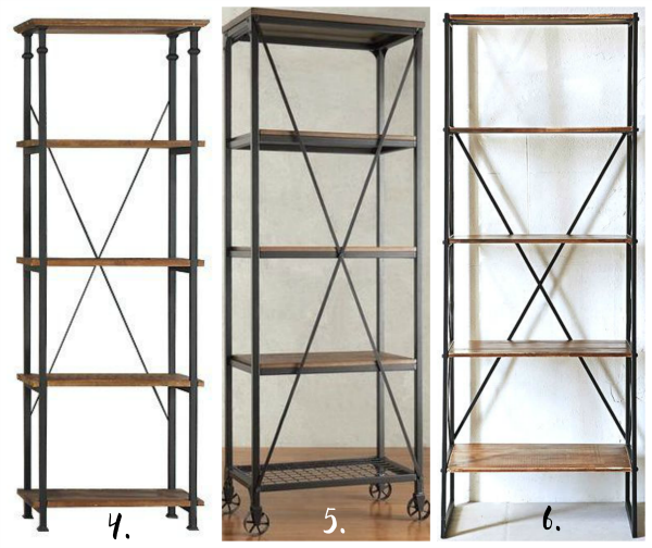 Beautiful Affordable Modern Industrial Shelving Options Metal Bookcase Rustic Bookcase Wood Bookcase