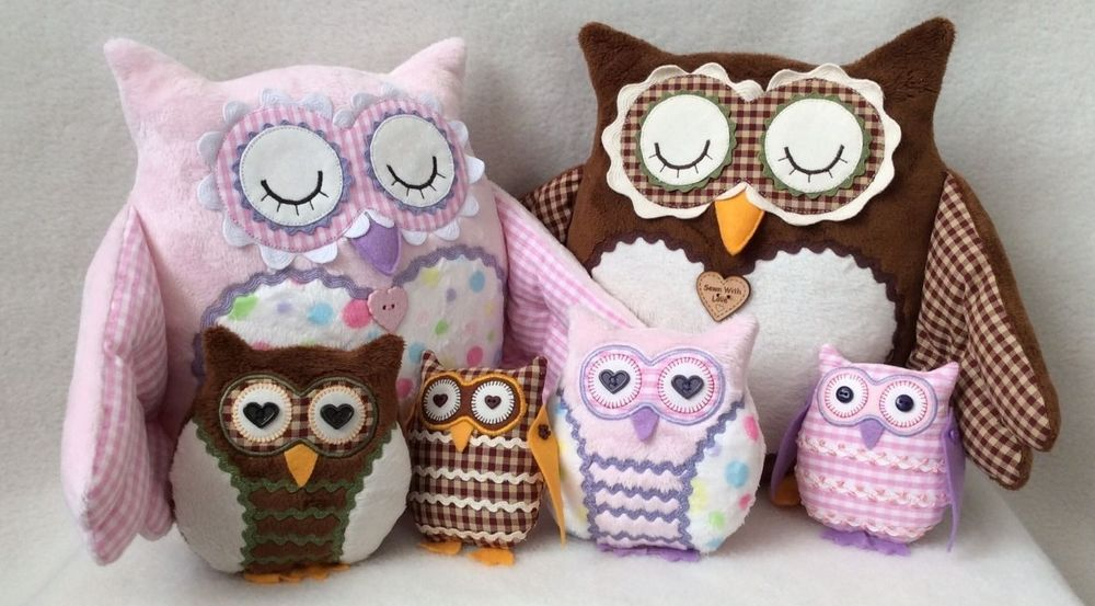 Patchwork / quilting applique barn owl doorstop/soft toy sewing ...