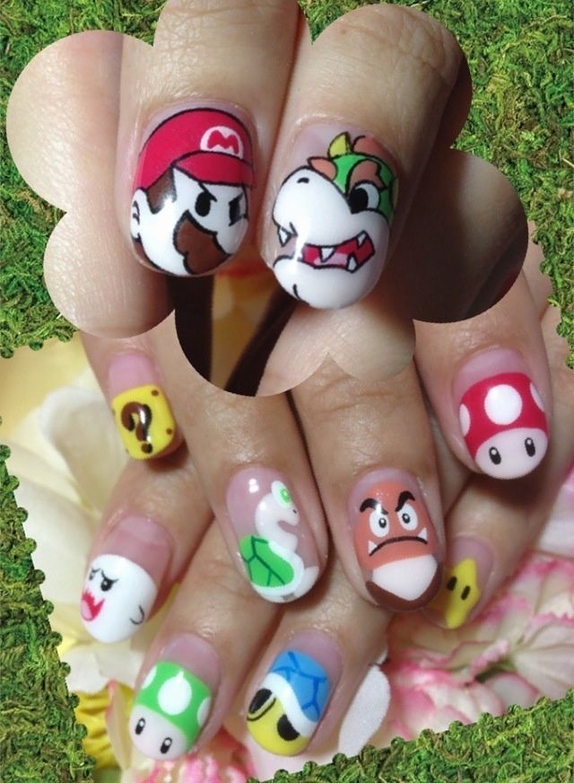 Super Mario nail art by Nakayama Chieko | Nails | Pinterest | Köröm