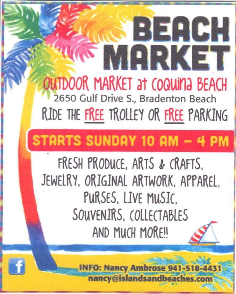 Anna Maria Island Beach: Beach Market At Coquina Beach Starts This Sunday -- See