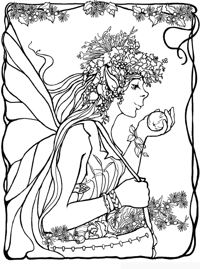 Fairies Coloring Pages | Coloring Sheet | Fairies | Pinterest